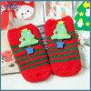 La robe tricotée de chaussettes de Noël de coton cogne la coutume