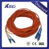 Pullover de connecteur de Sc de la rue LC de PC de RPA UPC 3.0 millimètres de Sc-LC de fibre de corde de pièce rapportée