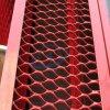 El color rojo ampliado del panel de malla de aluminio