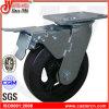 Roda de borracha resistente do rodízio do freio total de 4 polegadas, carro da mão