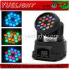 Lumière principale mobile de PRO de 18 3W LED mini lavage de faisceau