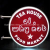 防水コーヒー印アクリルの照らされたLEDの表記