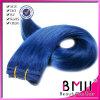 Peruviaans Maagdelijk Haar die Blauwe Kleur Ifor 10-36inch (Yuki006) weven