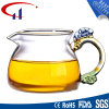 Copo extravagante do vidro de mão para o chá (CHT8612)