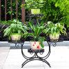 ヨーロッパのバルコニーのFowerの鍋の棚の庭の花立場のホールダーのプラント花のPergolasの金属の鉄の花の棚の植木鉢のホールダーの陳列だなの立場