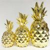 Nuevo color del oro de la piña del ornamento de la resina para la decoración casera