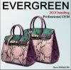 Sacos de mão Emg5194 do couro do saco das senhoras de saco da senhora mão de Hnadbags do couro da colisão da cor da bolsa do couro genuíno das mulheres