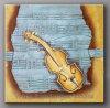 Pittura a olio moderna di Music per Wall Decor (KLMP1-0001)