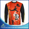Sleeve lungo Custom Sublimation Sporting T-Shirts per Sports Wear