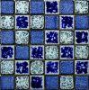 Mosaico cerâmico Dynastic M48tdc334--Telhas cerâmicas azuis luxuosas do mosaico