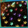 Prix d'usine Décoration d'arbre de Noël Forme de fleur Lumière LED