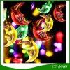 Moon Shape Solar String Lights 30 LED Lights de Noël avec capteur de lumière pour fête de noel de mariage