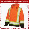 Revestimento alaranjado do inverno reflexivo elevado do Workwear dos homens do Vis (ELTSJI-24)