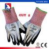 Перчатки отрезока уровня 5 отрезока волокна Hppe анти- покрынные нитрилом упорные Anti-Slip