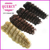 금발 Deep Wave Hair Weft Grade 7A Virgin Hair Tangle Free Shed 없음 Golden Color Deep Wave 브라질 Human Hair