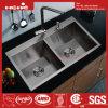 Bassin fabriqué à la main, bassin de cuisine, bassin d'acier inoxydable, bassin, bassin de cuisine, réservoir d'acier inoxydable