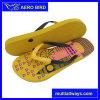 Милая тапочка PE печатание с двойной планкой цветов для женщины (T1649)