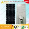 Una muestra gratis 120W 160 lúmenes/W 100% de brillo todo-en-Uno/LED integrado calle la luz solar para jardín Ruta al aire libre de polvo de luces de carretera hasta el amanecer