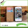 El cuero mate de la PU Mover de un tirón-Abre el caso de la cubierta del teléfono de la carpeta para el iPhone 6/6s más (RJT-0175)