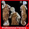 Ragazza con il giardino Sculpture Marble Statue Stone Carving Marble Sculpture Itlian Stone Sculpture Hotel Sculpture di Wreath