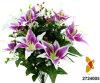 Giglio Bush (2724005) di Plastic/Silk/artificiale fiore di tigre