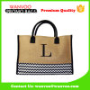 Eco-Frendly Custom Reusable Shoulder Jute Compras promocionais Linen Tote Bag