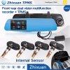 Espelho Rear-View que conduz o registrador TPMS HD cheio 1080P