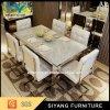 Обеденный стол установленного квадрата обедая таблицы мебели нержавеющей стали