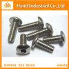 Tornillo de máquina Hex de la seguridad del socket de la pista del botón del acero inoxidable con el Pin
