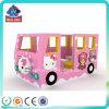 Le bus en plastique d'intérieur coloré populaire de réglage badine le jeu mou