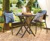 樹脂の藤の柳細工の庭の屋外のテラスの椅子のビストロセット