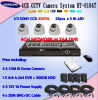 DIY 4CH Secutiry Kamera &CCTV DVR System (HT-8104T)