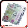 Carnet de notes en spirale de couverture en plastique