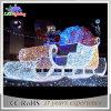 Lumière de Sleigh de motif de corde de la décoration 3D de Noël de DEL