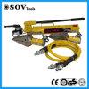 La flangia idraulica lavora lo spalmatore e la taglierina della flangia