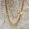 collier cubain Mjcn056 de chaînes de tige d'agrafe de diamant de l'or 18K