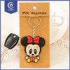 Venda a quente Custom tornando o Rato Mickey Chaveiro com logotipo em borracha macia