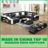 Sofá secional de couro de canto moderno da mobília Home da sala de visitas