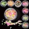 Gestalte gegeven de Kleur van de regenboog schittert Vlokken voor het Art. van de Spijker