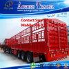 3 de Semi Aanhangwagen van de Staaf van het Pakhuis van het Vee van het Vervoer van het Vee van assen