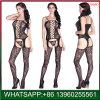Nouveau design de dentelle noire sexy Crotchless Vêtements de nuit pour femmes