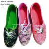De nieuwste Schoenen van het Canvas van Dame Flat Shoes Causal Shoes Injectie (HP0804)