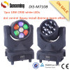 diodo emissor de luz Moving Head de 7*10W RGB Color Wheel Colorful Effect