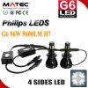새로운 G6 필립스 LEDs 96W 9600lm 자동 차 LED 헤드라이트
