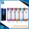 para el caso transparente de Samsung S8 TPU con el botón de aluminio del metal