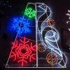 Im Freien LED-schneiendes Eiszapfen-Fee-Licht-Blinkendes Schneeflocke-Licht für Weihnachtsstraßen-Dekor