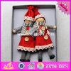 2017 Nouveaux produits bébé personnages de dessins animés percevable poupées en bois W02A229