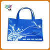 Plegable reutilizable bolsa de regalo de Navidad tejida con mango fuerte