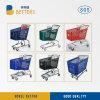 Migliore carrello di plastica di vendita dei carrelli di acquisto del supermercato 200L con la presidenza e le rotelle