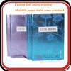 Cuadernos encuadernados de imprenta de la fuente de oficina del papel de la caja ULTRAVIOLETA del Hardcover